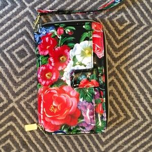 Handbags - Floral patent, clutch wallet